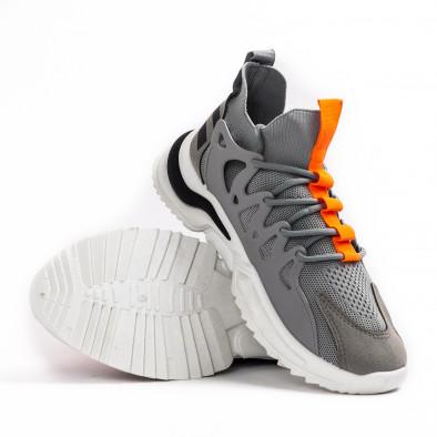 Мъжки маратонки чорап в сиво gr080621-1 4