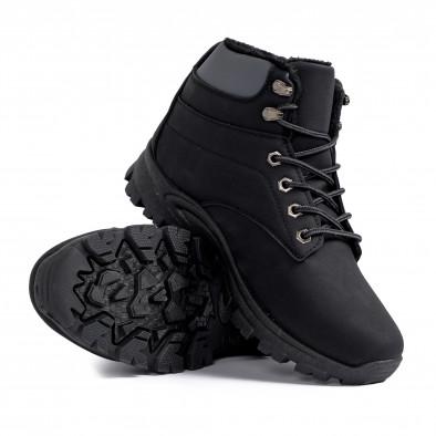 Мъжки черни трекинг обувки с подплата it161220-47 4