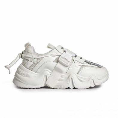 Chunky дамски бели маратонки с акценти it280820-18 3