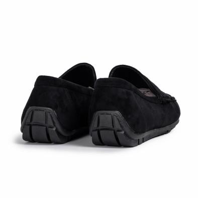 Мъжки спортни мокасини черен велур it140720-1 5