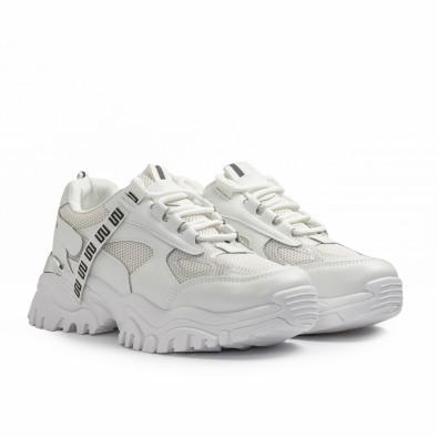 Chunky бели маратонки с декорация it110221-11 3