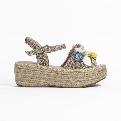 Дамски сандали в кафяво с декорация it270320-16 3