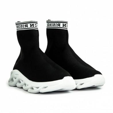 Мъжки черни маратонки Rogue тип чорап it180820-11 4
