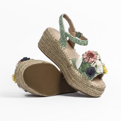 Дамски сандали в зелено с декорация it270320-17 5