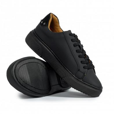All black мъжки кецове с декорирана пета it300920-57 4