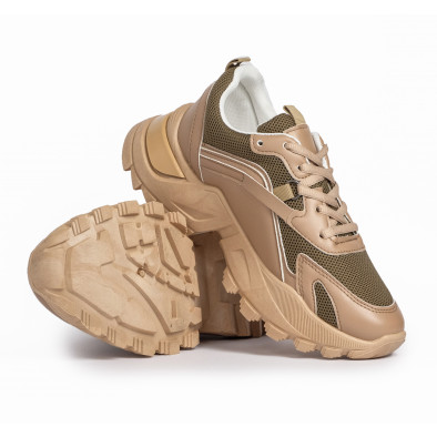 Chunky дамски бежови маратонки it280820-8 4