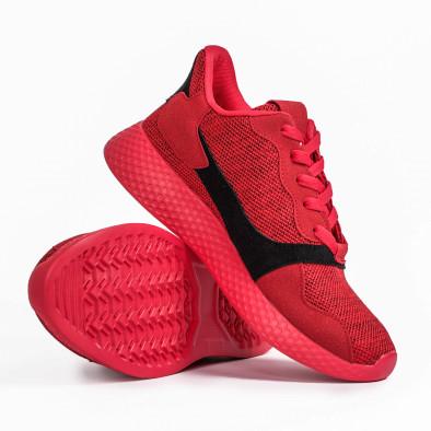 Мъжки комбинирани маратонки червен меланж it180820-2 4