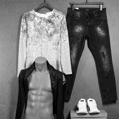 Мъжка бяла блуза с принт tr020920-46 4