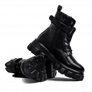 Дамски черни боти с джоб it231120-5 4