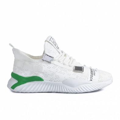 Летни мъжки бели маратонки с акценти gr020221-4 2