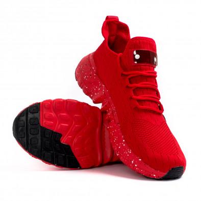 Червени маратонки чорап с гумиран детайл it180621-3 4