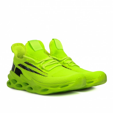 Мъжки неоново зелени маратонки Chevron it090321-1 3