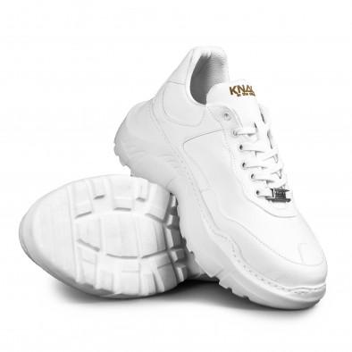 Мъжки бели маратонки Chunky All white tr051021-7 4