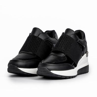 Slip-on дамски черни маратонки на платформа it280820-3 3