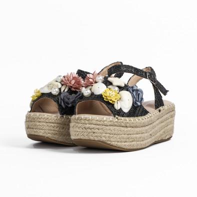 Дамски сандали в черно с декорация it270320-14 4