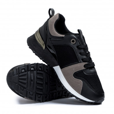 Дамски маратонки в черно и сиво it110221-1 4