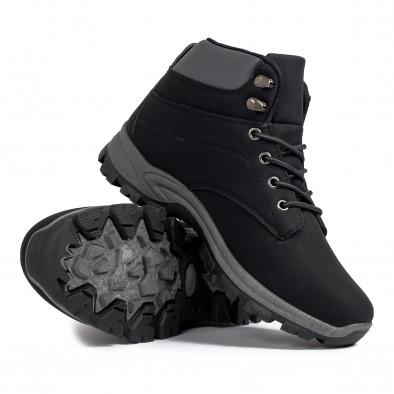 Мъжки трекинг обувки в черно и сиво it021120-1 4