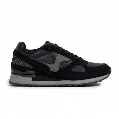 Комбинирани мъжки маратонки в черно и сиво it300920-53 2