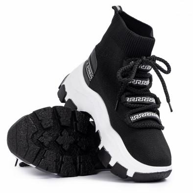 Chunky маратонки чорап в черно tr231020-1 4