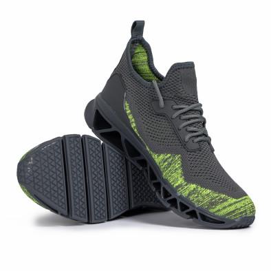 Мъжки маратонки Knife сиво и зелено it140720-12 4