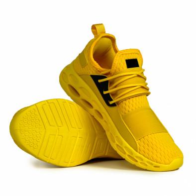 Мъжки жълти маратонки с ластици it180820-8 4