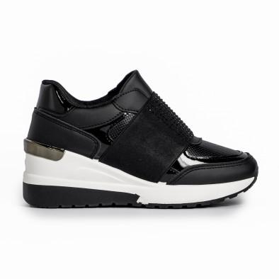 Slip-on дамски черни маратонки на платформа it280820-3 2