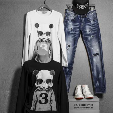 Мъжка бяла блуза Panda Skull tr020920-50 4
