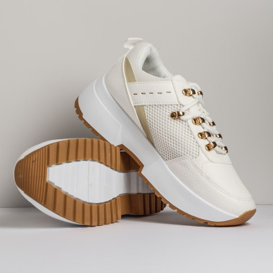 Комбинирани дамски маратонки в бяло it280820-11 3