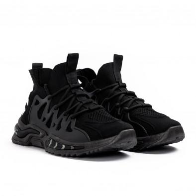 Мъжки маратонки чорап в черно gr080621-2 3