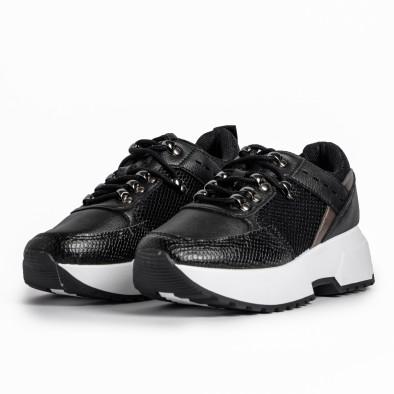 Комбинирани дамски маратонки в черно it280820-10 3