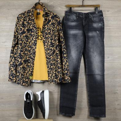 Slim fit мъжка риза флорален десен tr110320-96 4