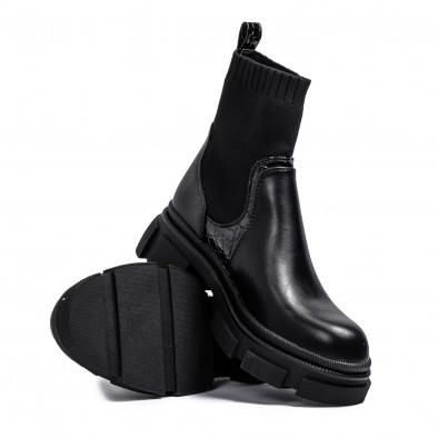 Комбинирани дамски боти тип чорап it231120-3 4