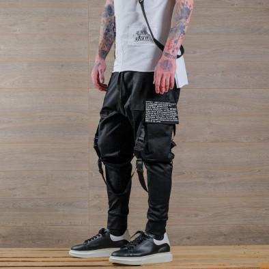 Мъжки еластичен панталон с акценти tr110320-135 2