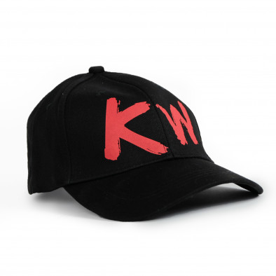 Плитка черна шапка с козирка gr090321-9 2