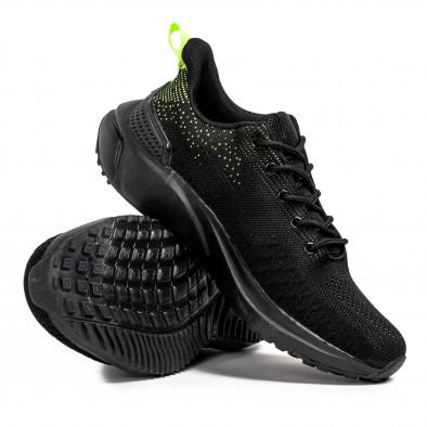 Текстурирани мъжки маратонки в черно it090321-7 4