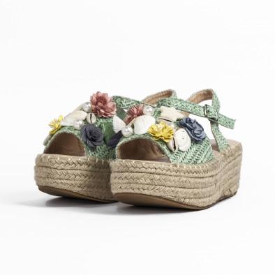 Дамски сандали в зелено с декорация it270320-17 4