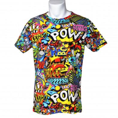Мъжка тениска с комикси Pow it200421-4 3