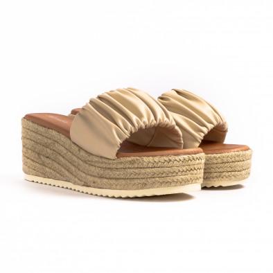 Дамски чехли на платформа с декоративен набор it260521-9 3