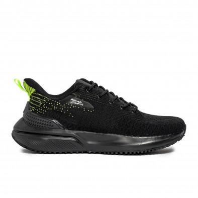 Текстурирани мъжки маратонки в черно it090321-7 2