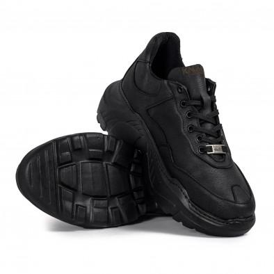 Мъжки черни маратонки Chunky All black tr051021-6 4