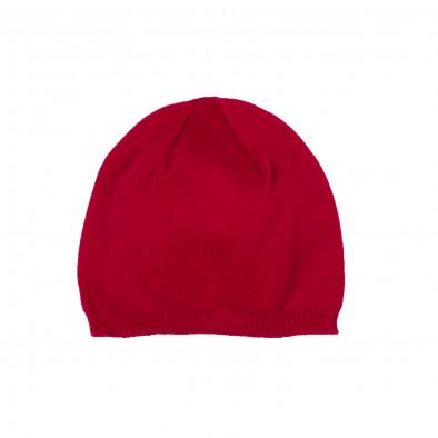 Basic мъжка плетена шапка в червено il161220-3 2