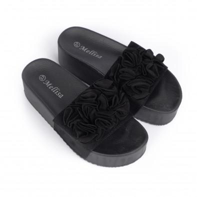 Дамски чехли на платформа в черно it030620-11 3
