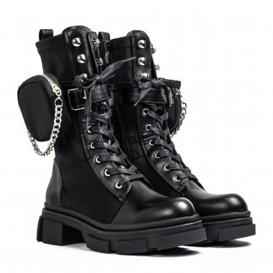 Дамски черни високи кубинки Mini Bag it231120-6 3