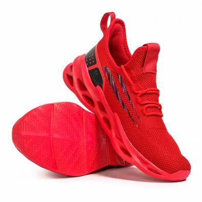 Мъжки червени маратонки Chevron it090321-3 4