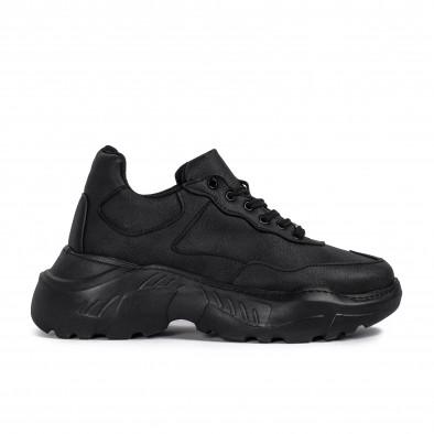 Мъжки черни маратонки Chunky All black tr051021-6 2