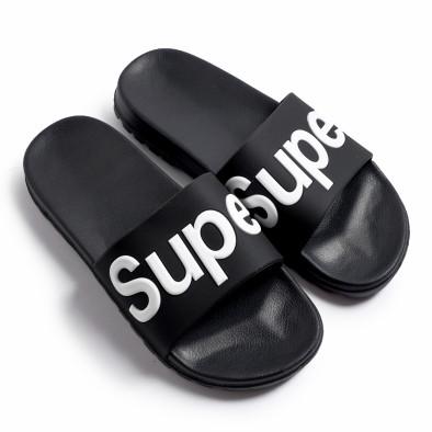 Мъжки джапанки Super в черно it260620-3 2