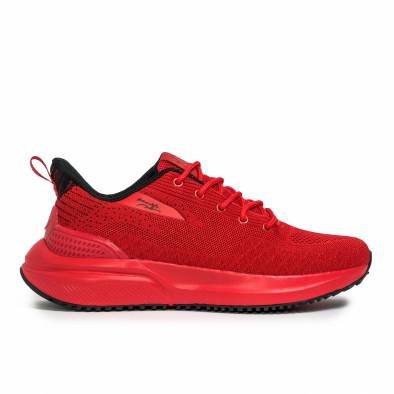 Текстурирани мъжки маратонки в червено it090321-5 2