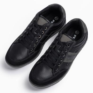 Мъжки черни кецове със сиви детайли it300920-54 4