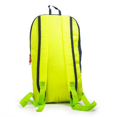 Раница за фитнес в синьо Blue-Yellow Fluo it040621-33 3