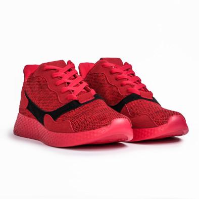 Мъжки комбинирани маратонки червен меланж it180820-2 3